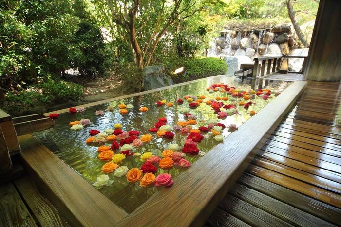 3本の自家源あり!約200輪のバラの花が浮かぶお風呂2205829